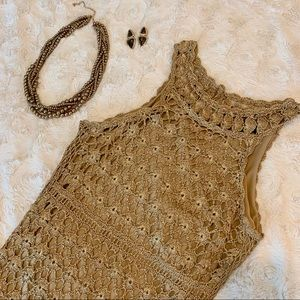 I.N.C. Sizzling Sweet Crochet Cocktail Dress
